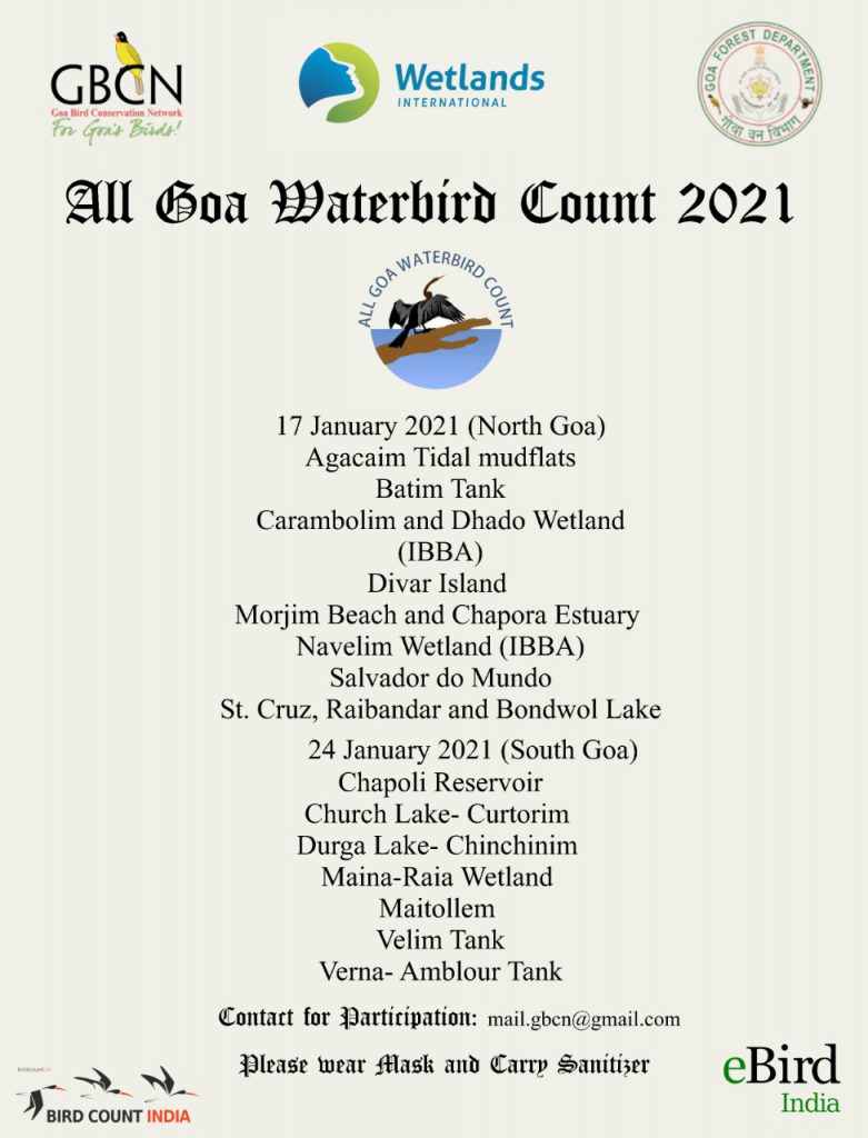 All Goa Waterbird Count 2021